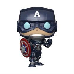 Фигурка Funko POP! Bobble: Marvel: Avengers Game: Captain America 47757 - фото 5197