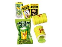 """Жевательная резинка """"Гигант Ядерный взрыв"""" с наклейкой!!!(начинка клубника+лимон-лайм)14гр"""