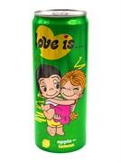 Love is Газированный напиток Яблоко-Лиомон (Зеленый) 330мл